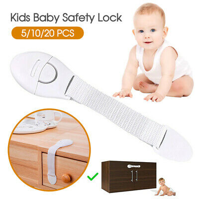 Child Kids Baby Safety Lock For Door Drawers Cupboard Cabinet Adhesive 5/10/20X