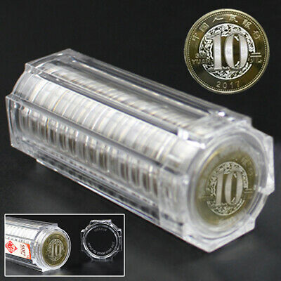 27mm Round Coin Display Cases Capsules Holder Clear Storage Tube Collection Box