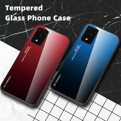 For Samsung Galaxy A50 A40 A30 A10 A70 Gradient Tempered Glass Back Case Cover