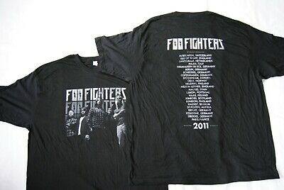 Foo Fighters Band Image Wasting Light European Tour 2011 T Shirt New Official