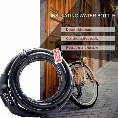 Lock Extender Loop U Secure Anti Theft Coil Cable Bike Cycle Security 1M X 6mm