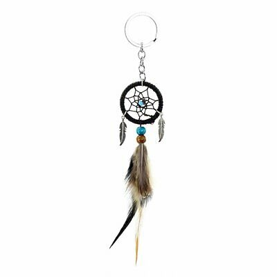 Mini Feather Dream Catcher Small Hanging Car Pendant Key Ring Decoration ND