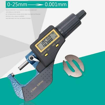 LCD Display 0-25mm Digital Electronic Micrometer Steel High Precision 0.001mm K