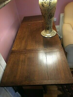 Antique Oak Three Plank Gate Leg Table