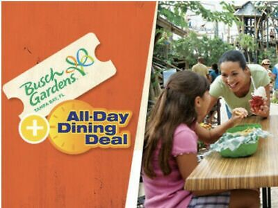 Busch Gardens Tampa Tickets Discount Savings + All Day Dining Promo Deal!