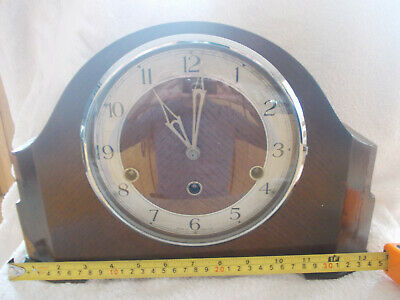 Early Enfield Oak Westminster Chimming Mantle Clock Sold As Spares Or Repairs
