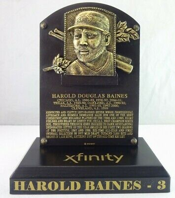 Harold Baines Hall Of Fame Replica Plaque; Giveaway from 8/11/19 White Sox game