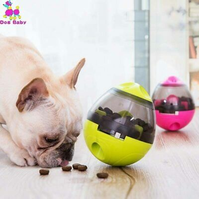 Pet Feeder Dog Cat Food Playing Bowl Toys Ball IQ Smart Doggie Interactive Kids