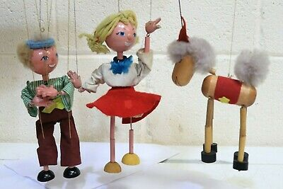3 x Collection of VINTAGE PELHAM PUPPETS Made in England Puppet - 250