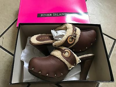Girls/Ladies Gorgeous Wool Lined River Island Shoes - Bnib - Size 7