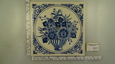 Blue Delft Dial Tile For Zaandam Or Zaanse Clock Floral
