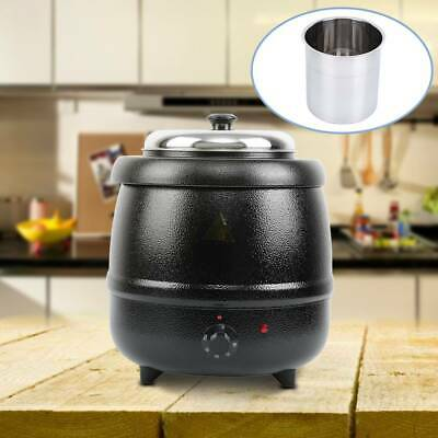 10L Commercial Food Soup Kettle Hotel Kitchen Server Soup Warmer Pot Tool 100W