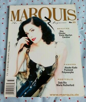 Dita Von Teese Marquis Magazine No 33 2005 Mint Rubber Latex Fetish BDSM