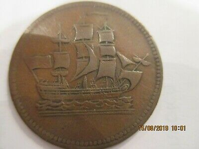 1830's Prince Edward Island Ships Colonies &Commerce Token,PE 10-9