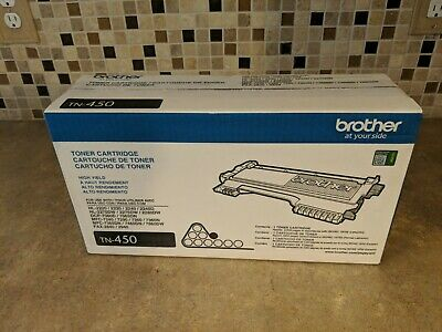 Brother TN450 High-Yield Toner Cartridge Black BRAND NEW GENUINE OEM | NIB HB-5