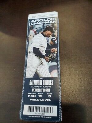 New York Yankees Baltimore Orioles MINT Season Ticket 8/14/19 2019 MLB Stub