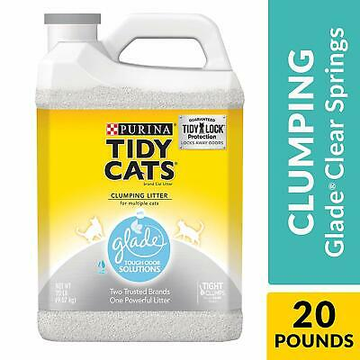 Purina Tidy Cats Clumping Cat Litter, Glade Clear Springs Multi Cat Litter - 20