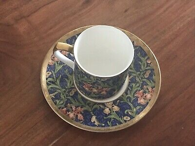 William Morris 'IRIS' Cup & Saucer V&A Collection by Nikko Co. MINT condition