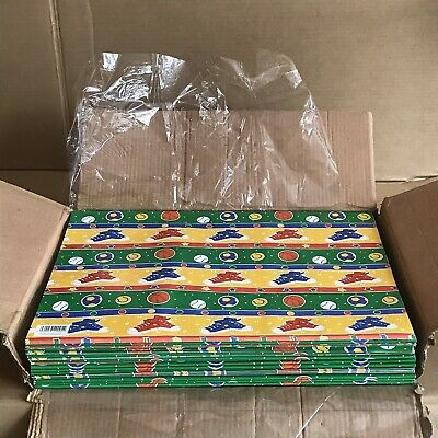 Job Lot 400+ Sheets of Paper Fusion Gift Wrap - Retro 80's Sport Wrapping Paper