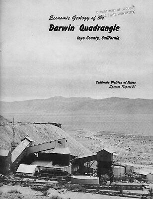 Darwin gold-silver mines, RARE 1st ed, Inyo, Calif; Death Valley, BIG maps, core