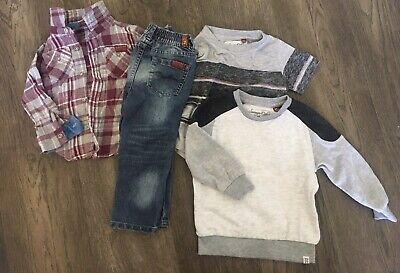 2T Toddler Boys Clothes Lot - 7 For All Man Kind & Sovereign Code - 4 Pieces