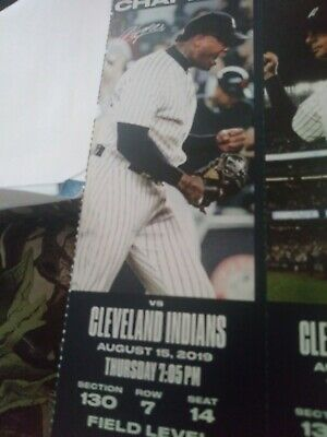 Yankees vs Cleveland Indians - SECTION 130 ROW 7 SEAT 14 $80 (Bronx)