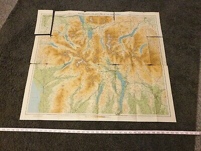 Vintage Bartholomew's Map of the Lake District, ref A14