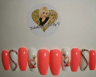 Hand painted false nails (SALE)