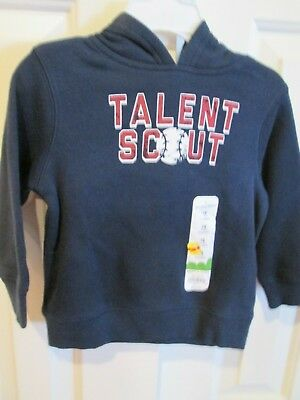 """NWT Jumping Beans 18 Months hooded long sleeve sweatshirt """"Talent Scout"""" in navy"""