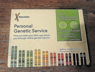 23andMe Personal Genetic Service Saliva Collection Kit, NEW & SEALED FREE SHIP