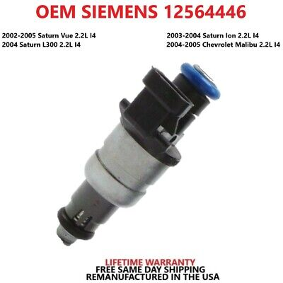 Chevrolet Chevy Malibu Saturn 02-05 Fuel Injector OEM 12564446 Remanufactured