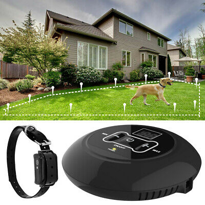 Wireless Electric Dog Fence Containment Hidden System Control Collar Waterproof