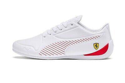 Mens Puma Ferrari Sf Drift Cat 7S Ultra F1 White Scuderia Driving Racing Shoes