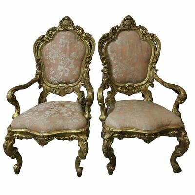 Charming Pair of Louis XV Antique Style Throne Chairs!!