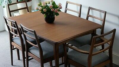Mid Century Afromosia Dining Table and Chairs by Richard Hornby