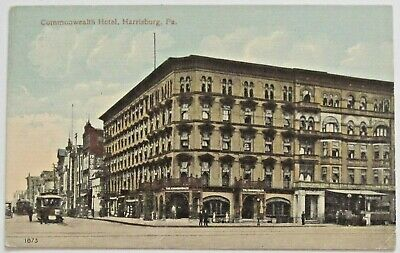 Harrisburg, PA Commonwealth Hotel, Early Postcard