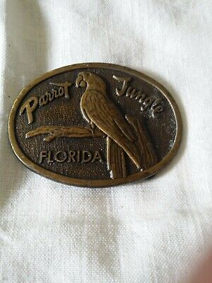Vintage Parrot Jungle Belt Buckle Florida Collectable.