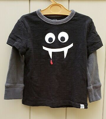 Baby Gap Boy Monster Shirt Top 18-24 Months Cotton Graphic thermal Sleeve