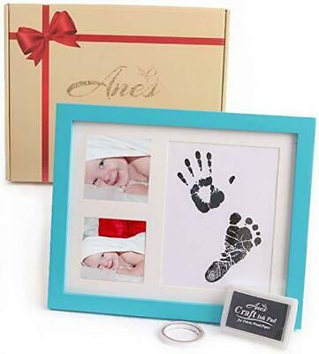 Baby Hanprint Kit And Baby Footprint Kit - Blue Keepsake Frames For Babies