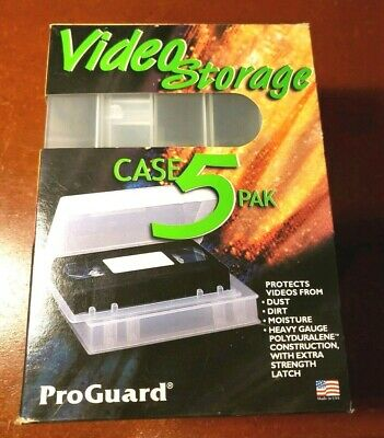 ProGuard VHS Video Tape Storage Cases(5) Empty Protectors Clear