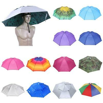 Head Umbrella Anti-Rain Fishing Anti-Sun Umbrella Hat Adjustable Outdoor Fishing