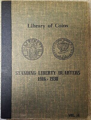 Liberty Std. 25c Library of Coins Album, 1916 - 1930S, Excellent Condition