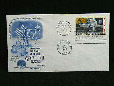 1969 July 20th Apollo 11 US First Day Cover Stamps