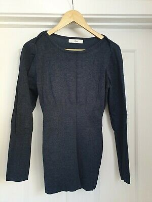 Ripe Maternity Blue Viscose Nylon Jumper Size M