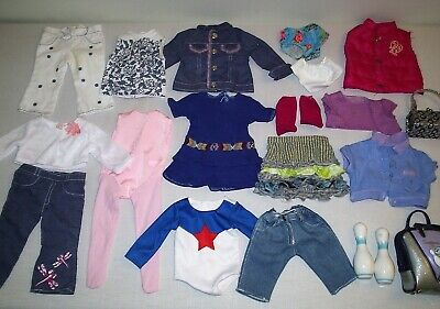 """Group Lot of American Girl & Other 18"""" Doll Clothes"""
