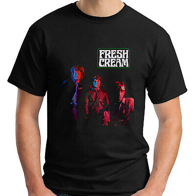 Cream Fresh Cream Album Rock Band Black T-Shirt Size S-5Xl