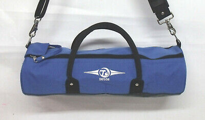 New Taylor Cylinder Inline Lawn Bowls Carry Bag hold 4 Bowls BLUE compact