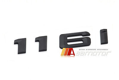 Matt Black 123d Lettering Numbers Letters Rear Boot Lid Trunk Badge Emblem Compatible For 1 Series E81 E82 E87 E88 F20 F21 F52 F40