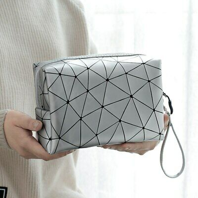 Geometric shape Women Cosmetic Travel Make Up Bags