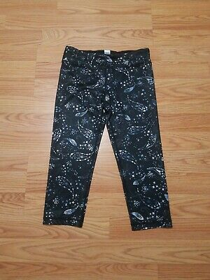 Ivivva By Lululemon Girls Luxtreme Rhythmic Crops Cosmic Paisley Blk Inkwell 12